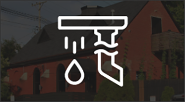 Residential guttering icon