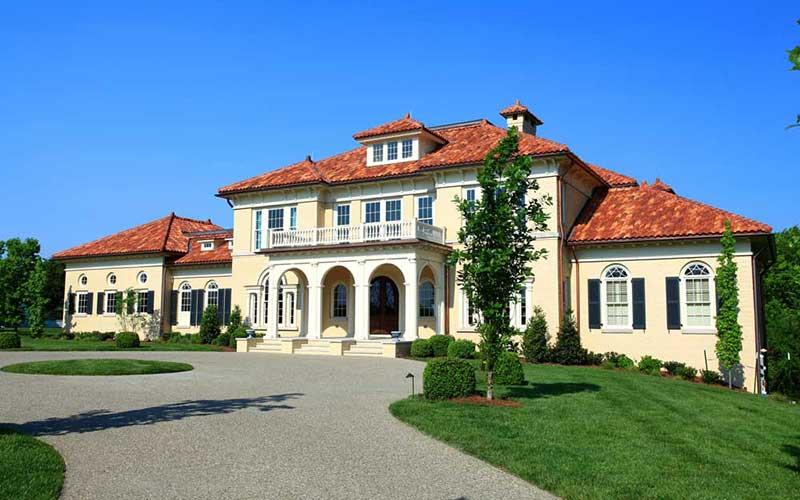 Spanish style terra cotta roof