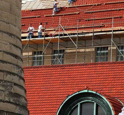 Replacing a historic tile roof