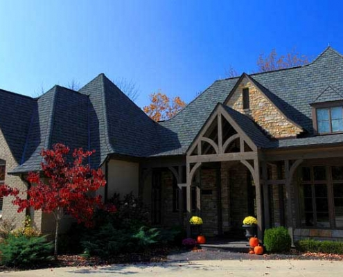 roof replacement with dimensional shingles