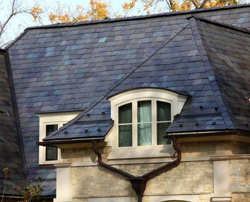 Greenstone slate roof replacement