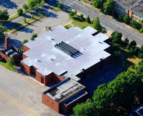 Roof replacement project at the Coleridge Taylor Elementary School