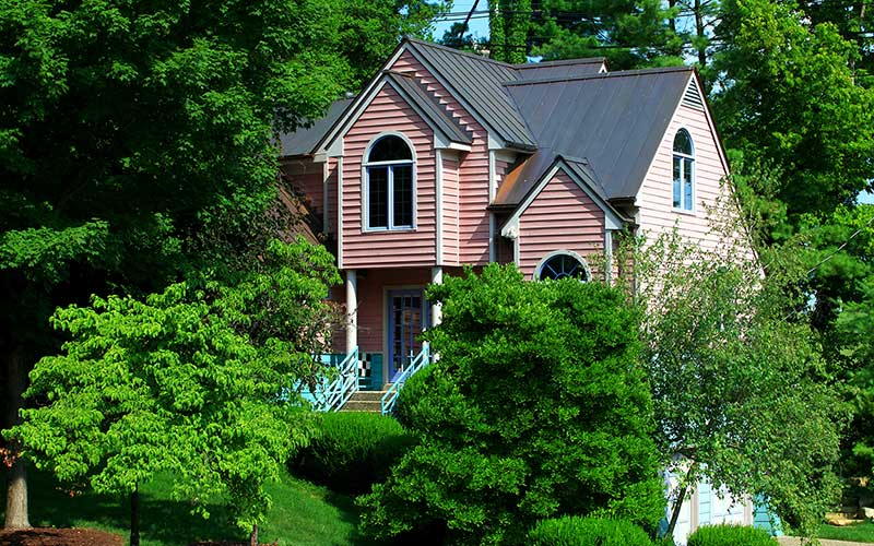 New 16 ounce standing seam copper roof